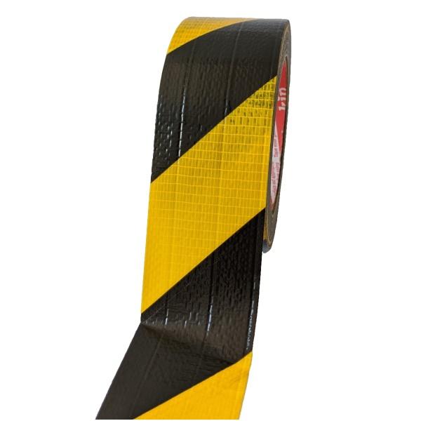 Gewebe-Warnband 3824 schwarz-gelb